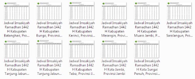 Kumpulan Jadwal Imsakiyah Ramadhan 1442 H Seluruh Kabupaten/Kota di Provinsi Jambi