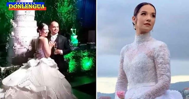El vestido de novia de Daniela Alvarado costó entre 12.000 y 15.000 dólares