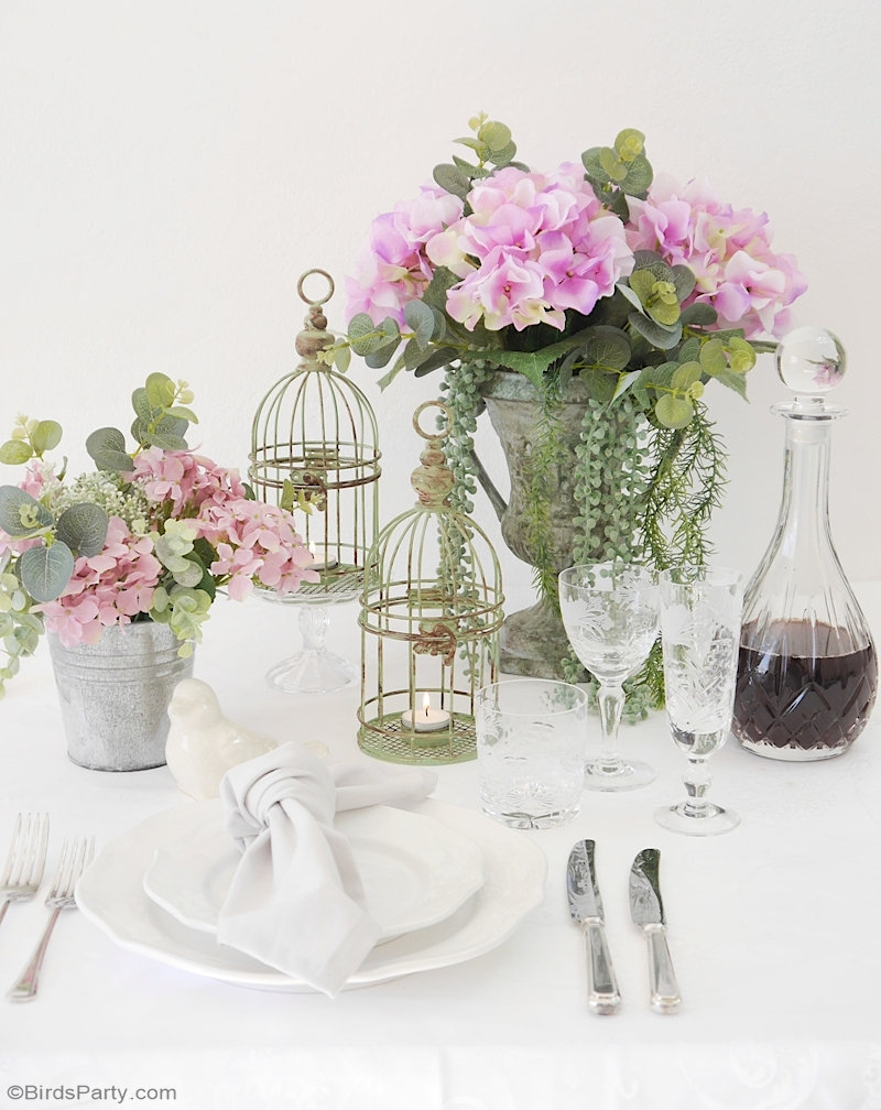 French Rustic Country Tablescape Using Thrift Store Items Party