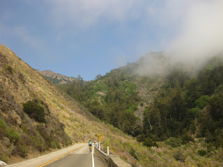 A patch of blue sky along the Pacific Coast Highway, California