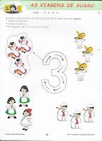 Atividades Pré-Escolar: Número 3