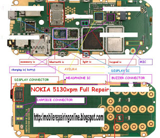 nokia 5130 pcb layout diagram