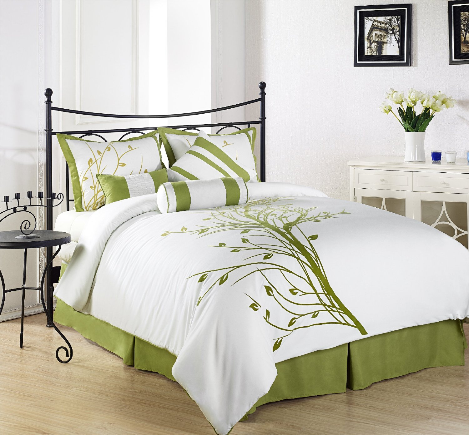 Brown And Green Bedroom Ideas: Olive Green Bedding Sets: Green Serene On A Budget