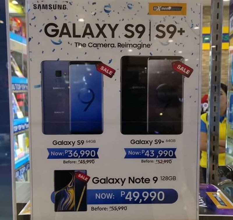 Sale Alert: Samsung Galaxy S9, S9+, and Note 9's price cuts, starts at PHP 36,990