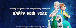 Frozen New Year 2016 Facebook Cover photos for girls