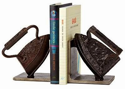 Vintage Iron Bookends oleh Breck Armstrong