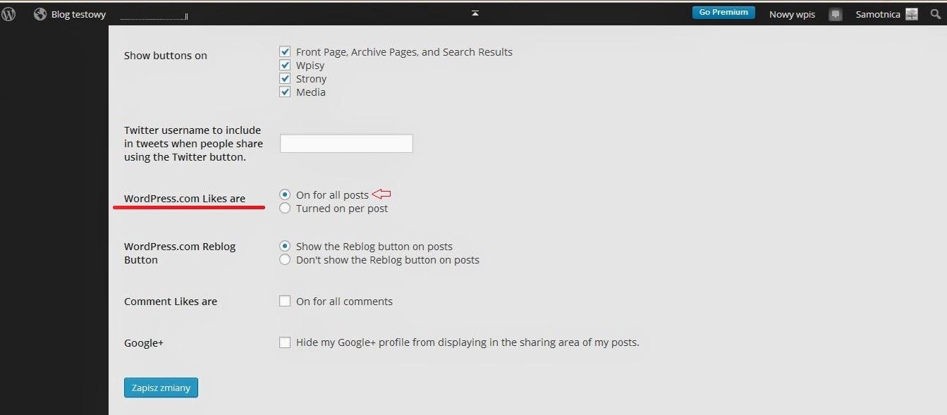 Wordpress - ustawienia gwiazdek w postach