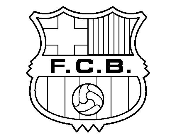 Dessins et coloriages coloriage moyen format imprimer le logo du club espagnol fc barcelone - Logo club foot espagnol ...