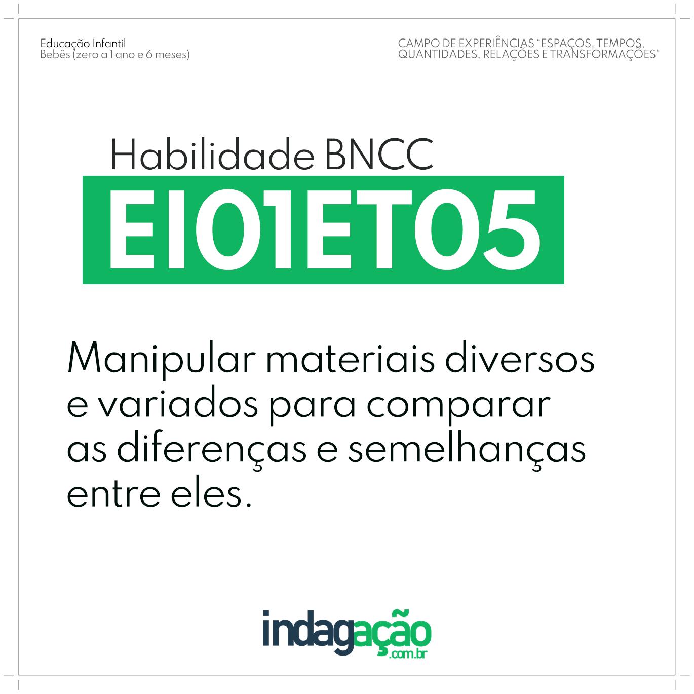 Habilidade EI01ET05 BNCC