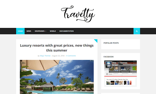 Travelty Responsif Travel Blogger Template