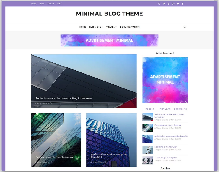 Optimized Blogger Templates 2020 Responsive & High CTR