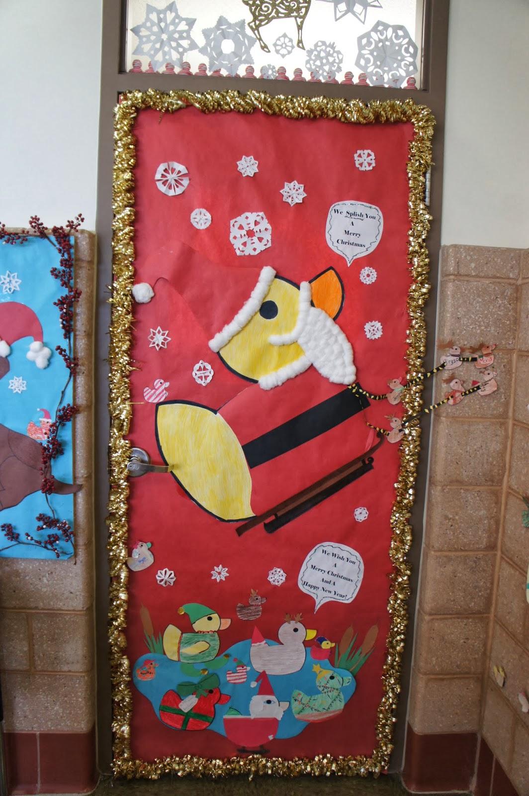 Kindergarten Kiosk Christmas Classroom Doors