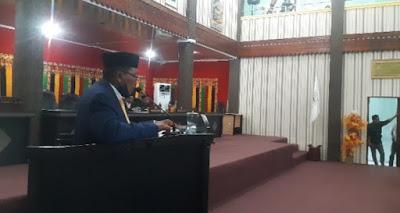 Bupati Aceh Singkil Tanggapi Pandangan Umum Anggota Dewan