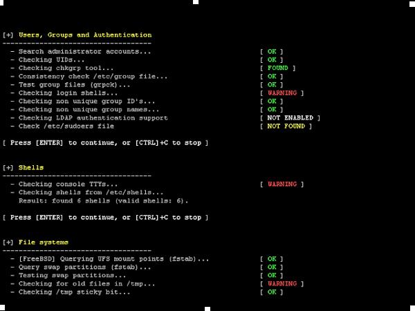 Lynis 2.7.5 - أداة تدقيق الأمان لأنظمة Unix / Linux
