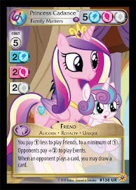 My Little Pony Princess Cadance, Family Matters Friends Forever CCG Card