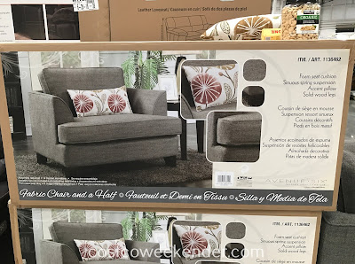 Costco 1136462 - Avenue Six Fabric Chair and a Half: perfect for any living, family or TV room