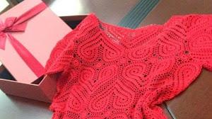 Cómo tejer el punto corazón de este bello vestido paso a paso