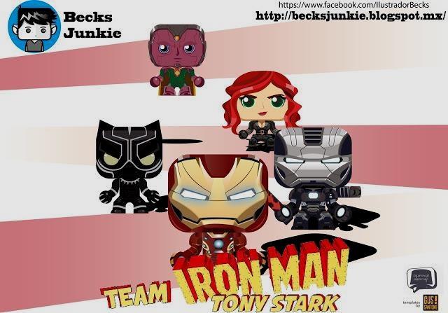 papermau captain america civil war iron man team paper toy