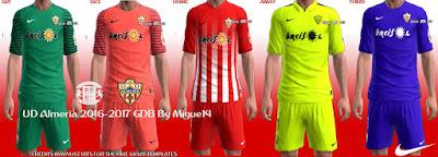 PES 2013 UD Almería 2016-2017 Kits by Migue14