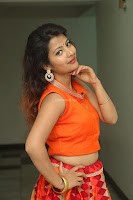 Shubhangi Bant in Orange Lehenga Choli Stunning Beauty ~  Exclusive Celebrities Galleries 036.JPG