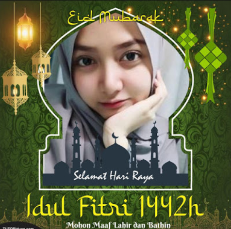 Bingkai Logo Idul Fitri 1442 H / 2021 M