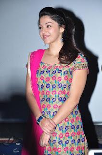 Actress Mehreen Pictures in Salwar Kameez at Krishnagaadi Veera Premagaadha Success Tour  0004.jpg