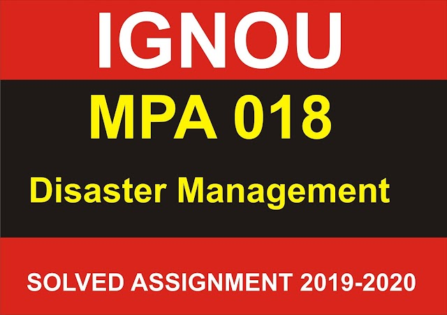 MPA 018 Solved Assignment