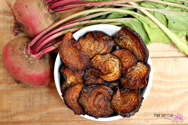 healthy superfood snack beets oven baked chips