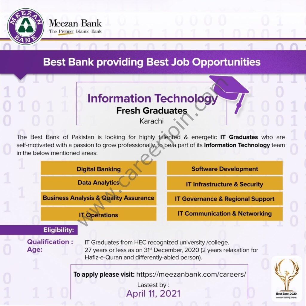 Latest Jobs 2021 in Meezan Bank