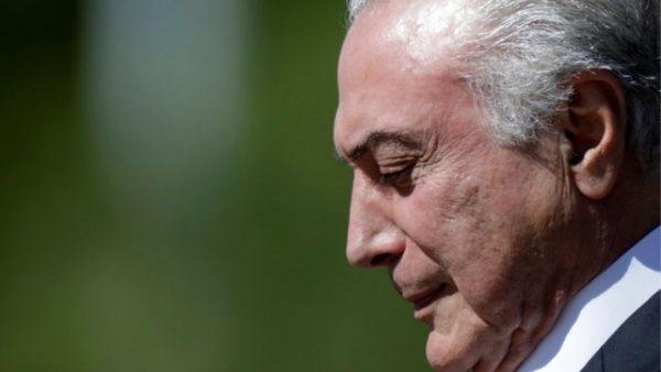 Michel Temer es acusado de corrupción por sexta vez