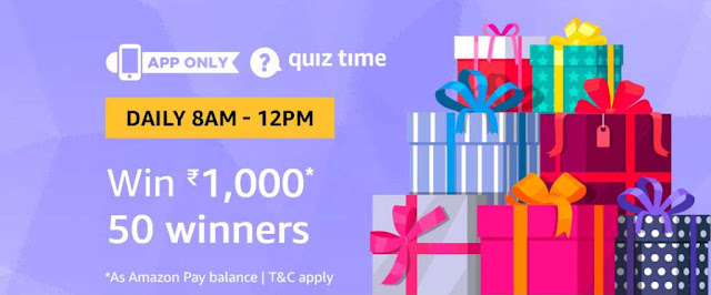 Amazon Quiz Answers Today 08 September 2019 – Win Samsung
