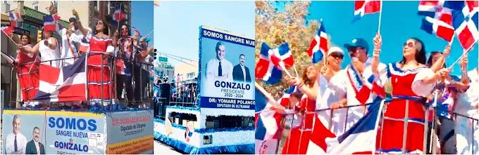 Miles se suman al apoyo a Gonzalo en desfile dominicano del condado Hudson en Nueva Jersey