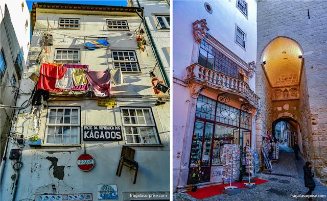 República estudantil e a Torre da Almadina, em Coimbra, Portugal