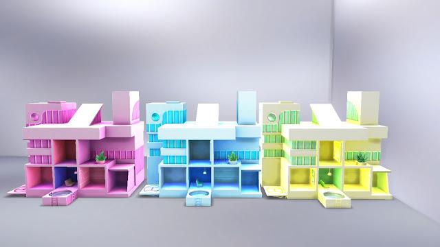 sims 4 cc modern kids room furniture set