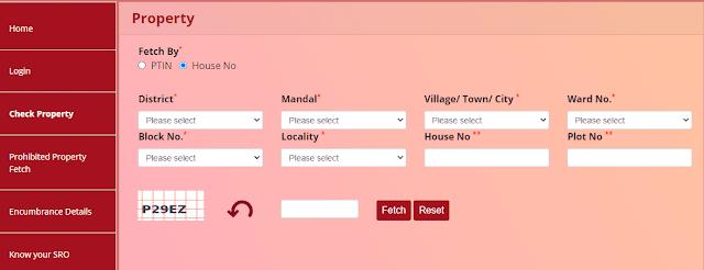 check property details house no fetch telangana dharani portal