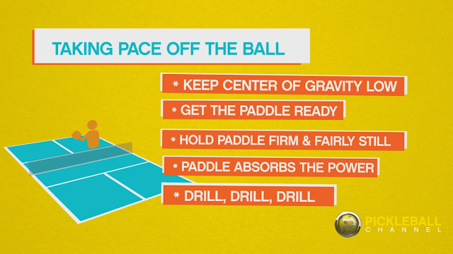 how to hold the paddle at the no volley line