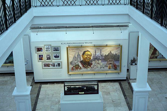 Lukisan Gus Dur di Museum Istana Yogyakarta