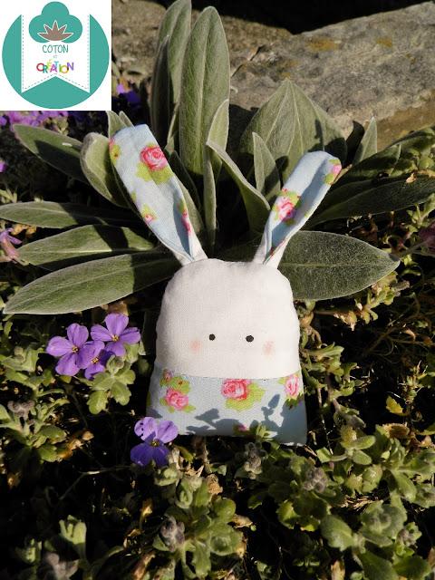 Coton et Création : lapin en tissu
