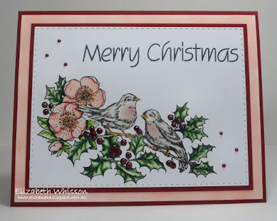 Alshandra, Alshandra's corner, Elizabeth Whisson, handmade card, copics, christmas, powerpoppy, power poppy, heaven and nature sing,