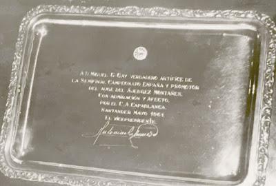 Placa homenaje a Miguel González Gay Doménech