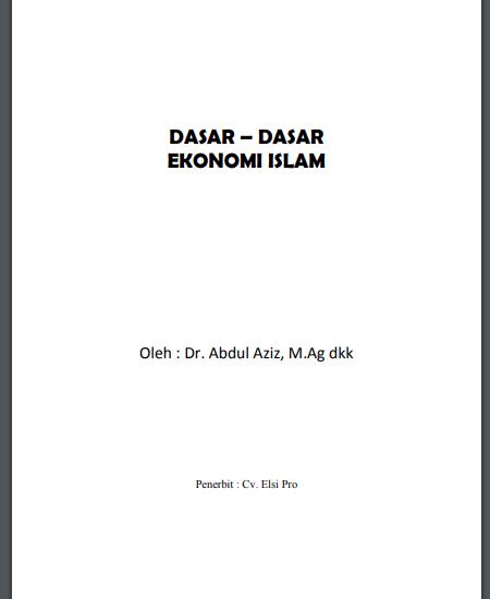 Buku Dasar-Dasar Ekonomi Islam (Download PDF Gratis !!!!)