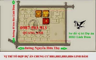 Sơ đồ vị trí dự án chung cư HH3 Linh Đàm