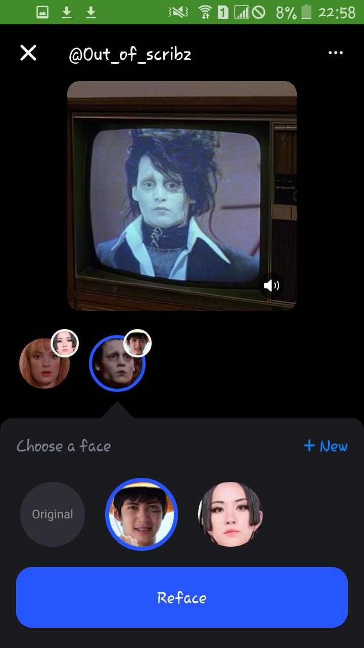 Reface Face Swap Videos
