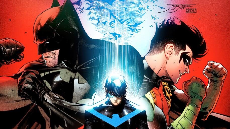 Batman, Robin, Nightwing, DC, Comics, 4K, #6.2382