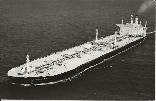 large oil tanker at sea Burmah Peridot