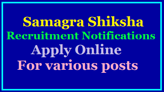 Samagra Shiksha-MIS-Coordinators, Data Entry Operators, System Analyst, Assistant programmer, Inclusive Education Resource Persons Recruitment Notification-Apply Online @ www.samagrashiksha.telangana.gov.in/2019/11/Telangana-Samagra-Shiksha-SSA-MIS-Coordinators-Data-Entry-Operators-System-Analyst-Assistant-programmer-Inclusive-Education-Resource-Persons-Recruitment-Notification-Apply-Online-www.samagrashiksha.telangana.gov.in-Download-Hall-Tickets-results.html