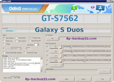 سوفت وير هاتف Galaxy S Duos موديل GT-S7562 روم الاصلاح 4 ملفات تحميل مباشر