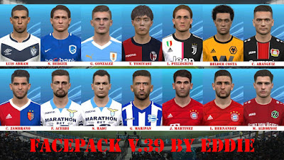 PES 2017 Facepack vol 39 by Eddie Facemaker