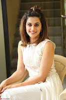 Taapsee Pannu in cream Sleeveless Kurti and Leggings at interview about Anando hma ~  Exclusive Celebrities Galleries 003.JPG