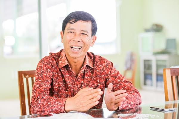 Phou Poy, president of the Green Rice Miller in Battambang and chairman of the Rice Bank. KT/Mai Vireak